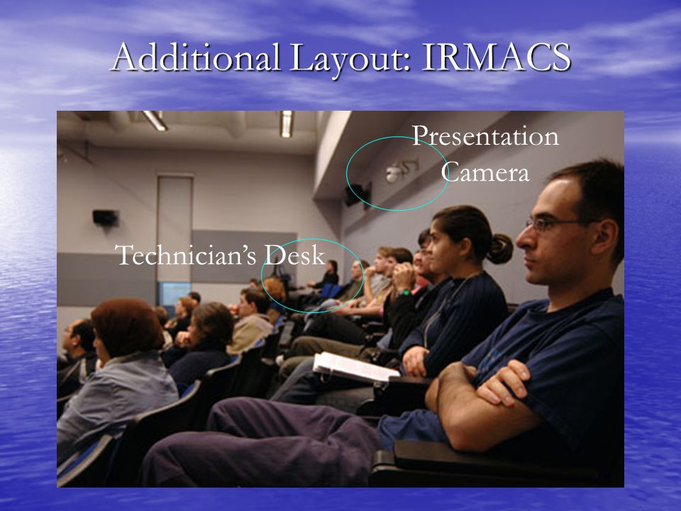 Additional Layout: IRMACS Technician's Desk Presentation Camera