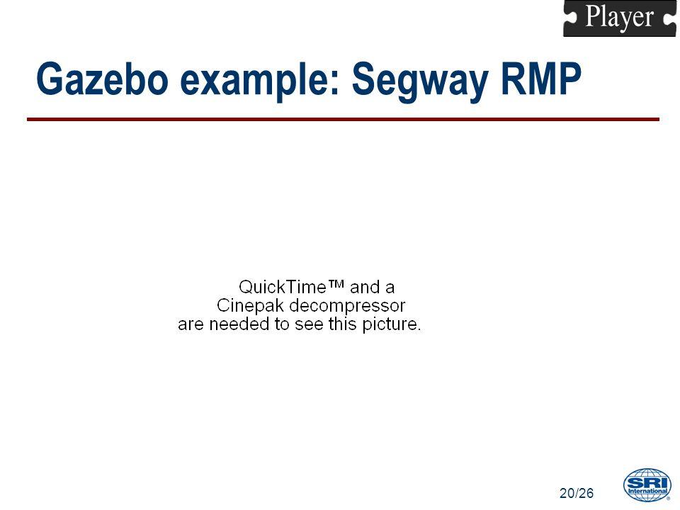 20/26 Gazebo example: Segway RMP