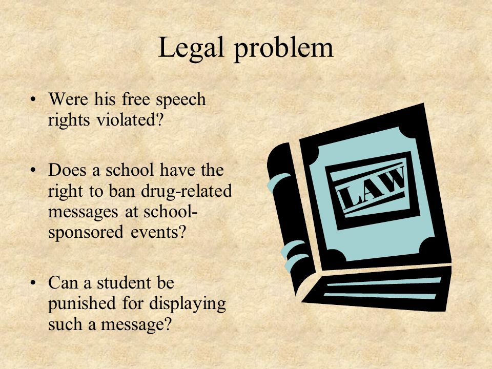 Legal problem Were his free speech rights violated.
