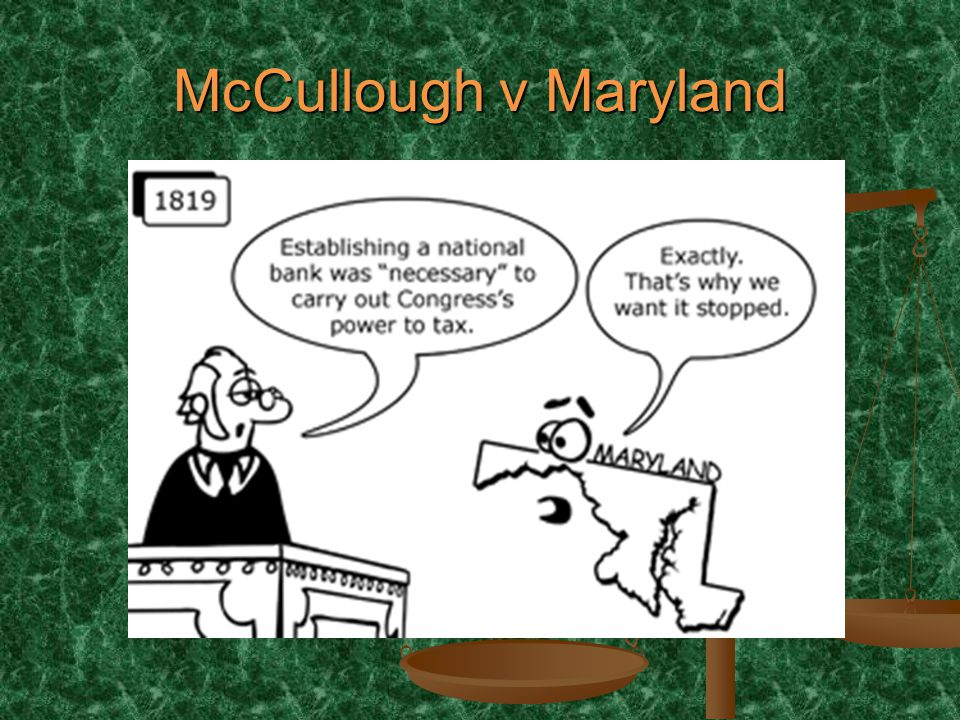 McCullough v Maryland