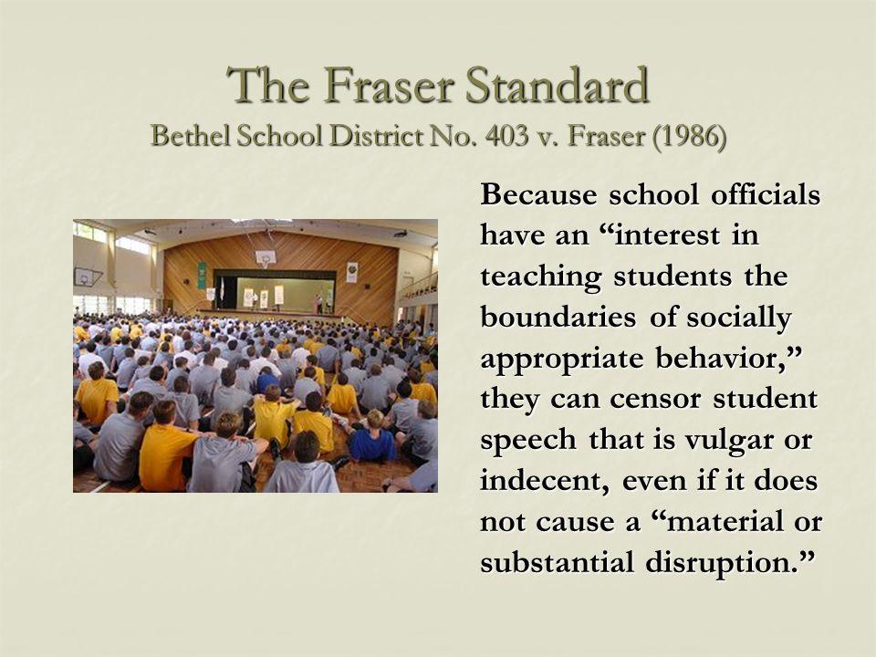 The Fraser Standard Bethel School District No. 403 v.