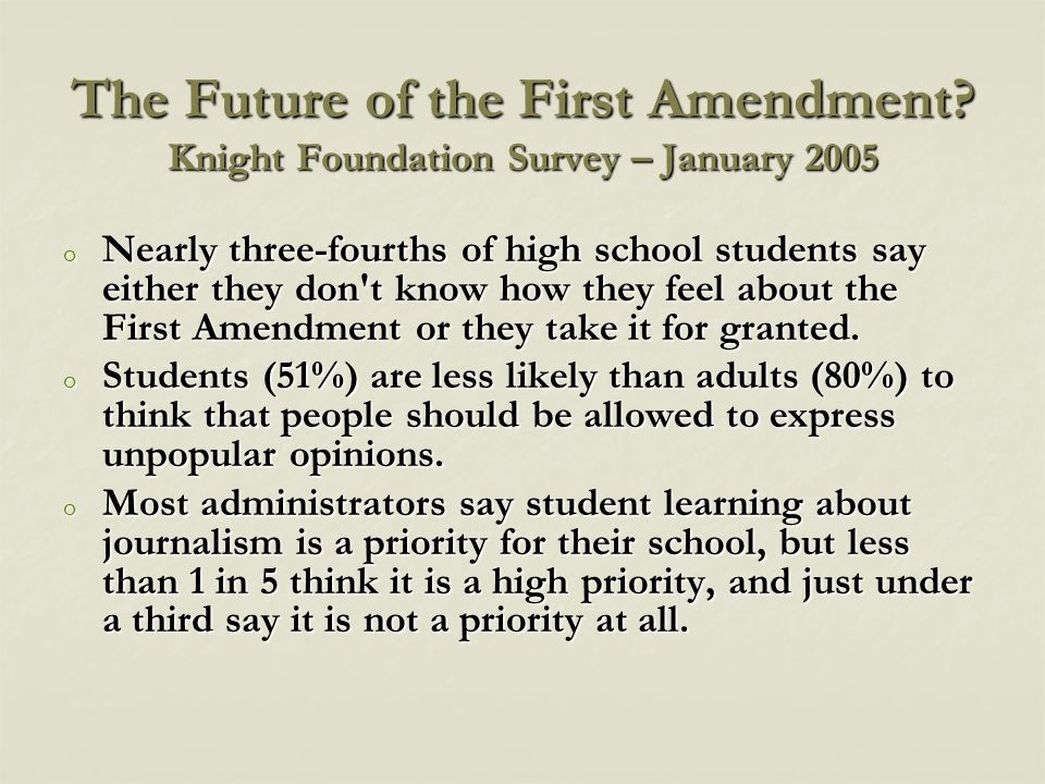How well do educators know the First Amendment.