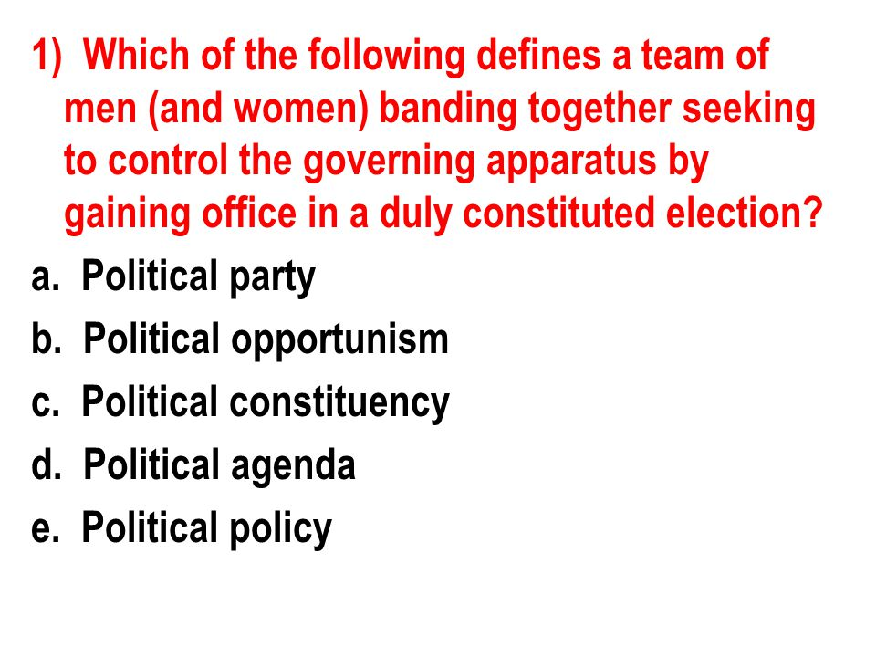 5) Which of the following are considered linkage institutions.