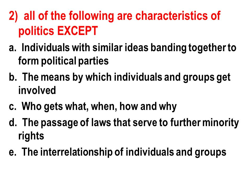 10) Which of the following terms means that people are gradually moving away from both parties.