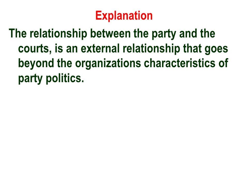 12) Which characteristic reflects party politics in the 1990s.