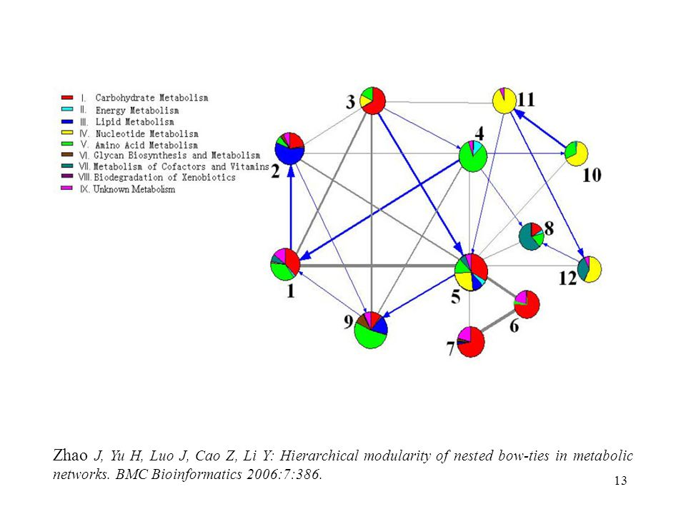 13 Zhao J, Yu H, Luo J, Cao Z, Li Y: Hierarchical modularity of nested bow-ties in metabolic networks.