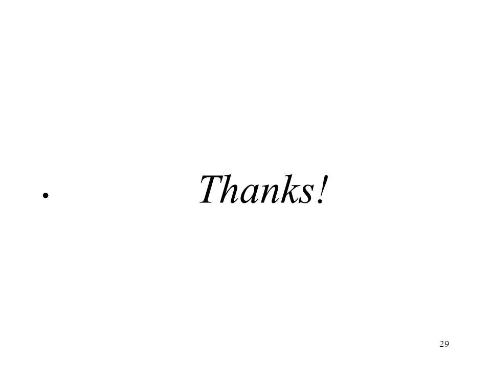 29 Thanks!