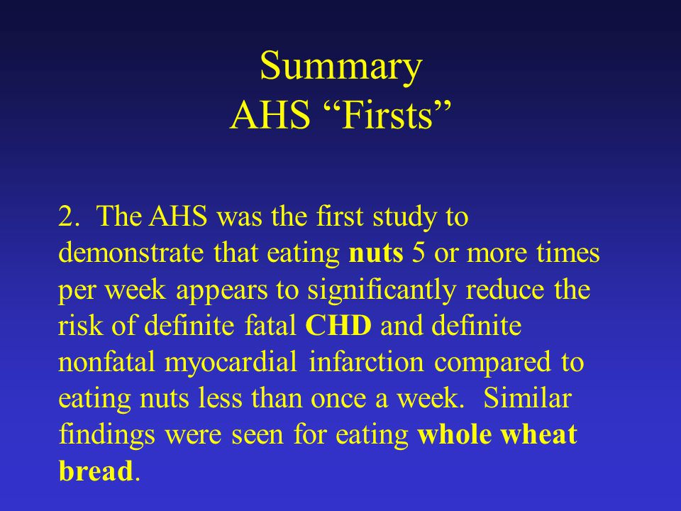 Summary AHS Firsts 2.