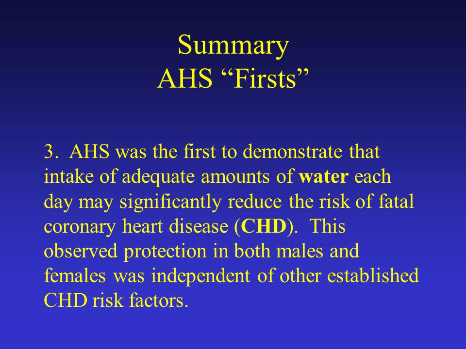 Summary AHS Firsts 3.