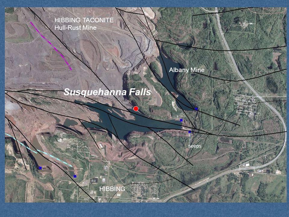 Susquehanna Falls Albany Mine HIBBING seeps HIBBING TACONITE Hull-Rust Mine