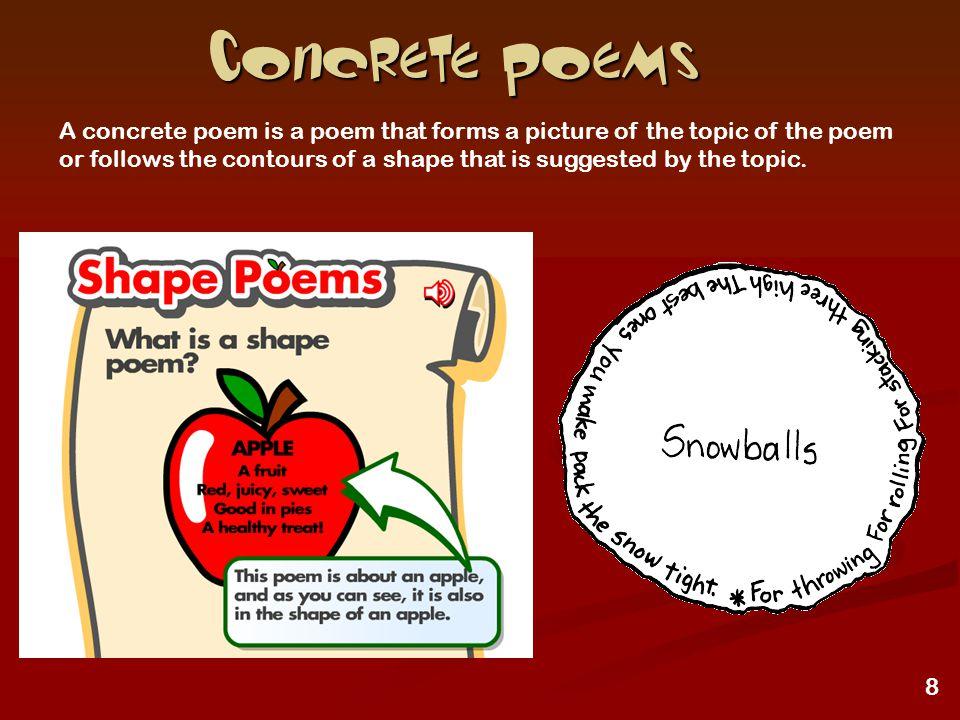 9 More Concrete poems