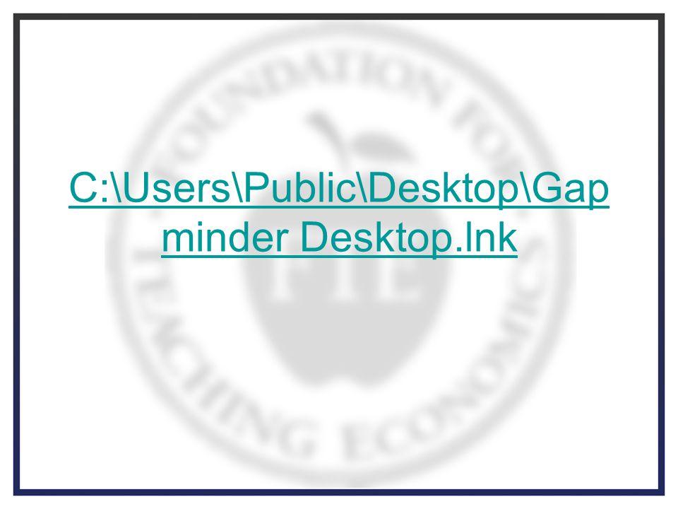 C:\Users\Public\Desktop\Gap minder Desktop.lnk