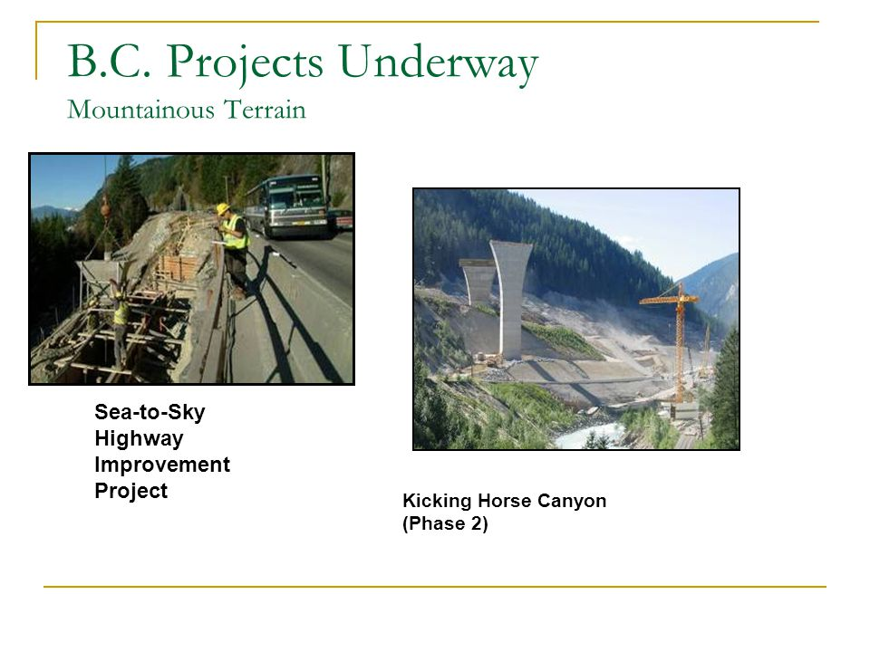 Sea-to-Sky Highway Improvement Project B.C.