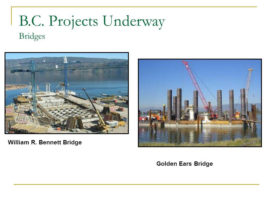 William R. Bennett Bridge Golden Ears Bridge B.C. Projects Underway Bridges
