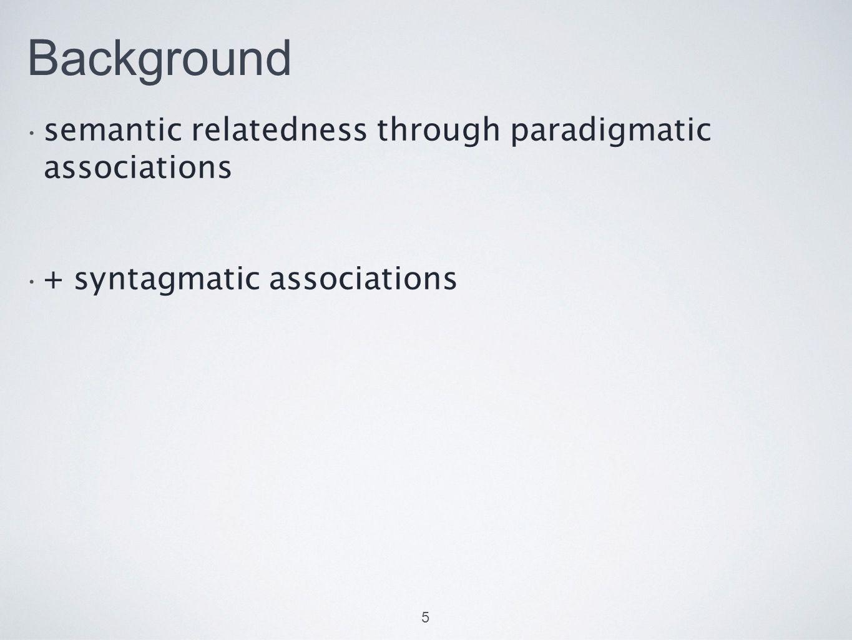 Asymmetry / Directionality Association measures Pecina (2009): 82 lexical association measures Asymmetry Evert (2007/2009) Schmitt (2010), Durrant (2008) Gries (2013), Ellis (2006) Corpus to psycholinguistic studies Durrant & Doherty (2010) Michelbacher, Evert, & Schütze (2011) Yamashita & Jiang (2010); Wolter & Gyllstad (2011, 2013) 6