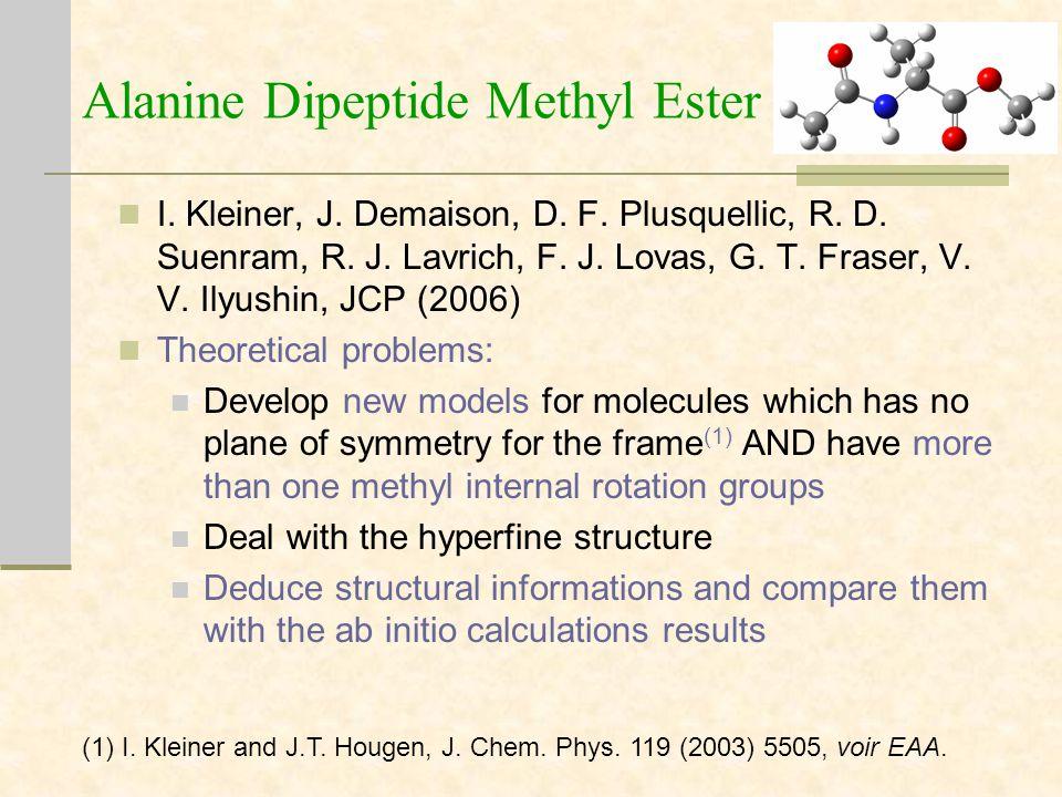 Alanine Dipeptide Methyl Ester I. Kleiner, J. Demaison, D.