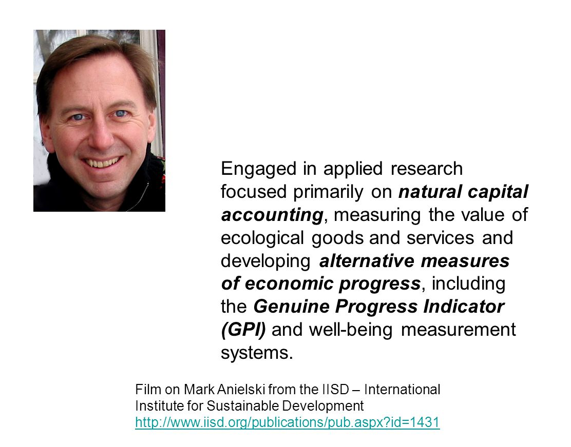 Engaged in applied research focused primarily on natural capital accounting, measuring the value of ecological goods and services and developing alter