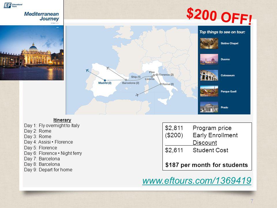 eftours.com 7 www.eftours.com/1369419 $200 OFF.