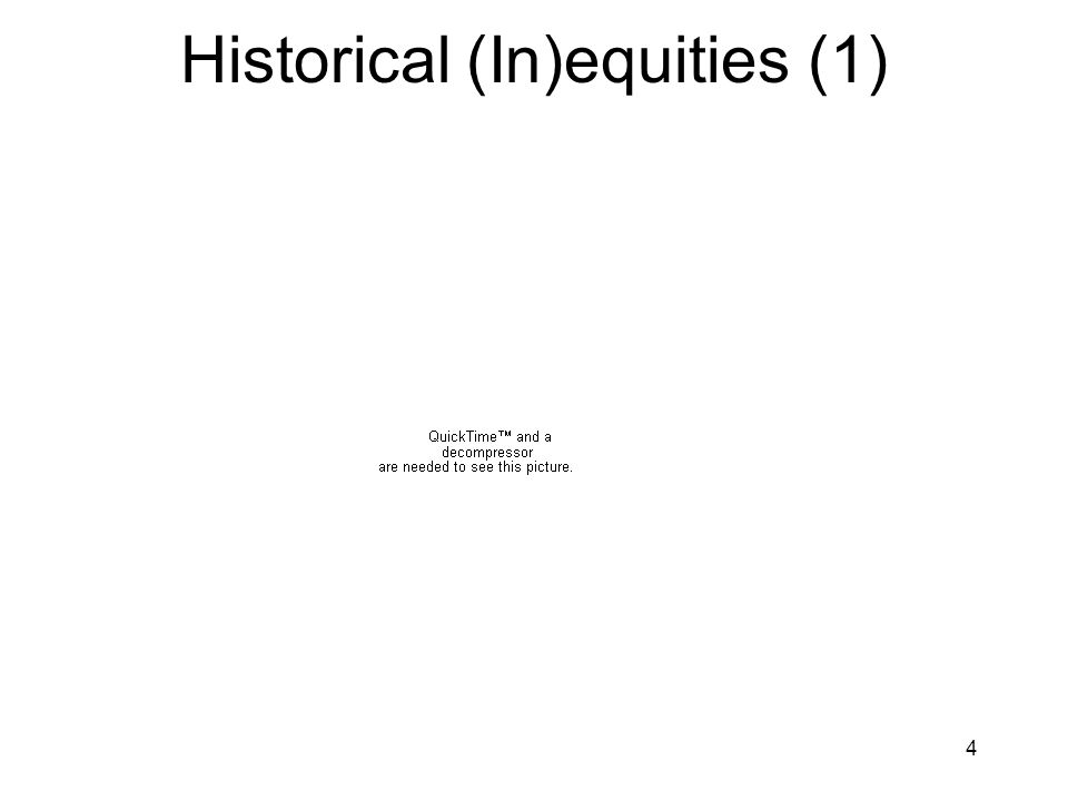 4 Historical (In)equities (1)