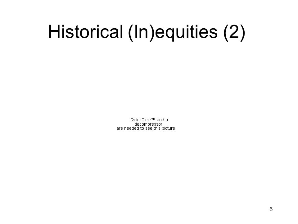 5 Historical (In)equities (2)