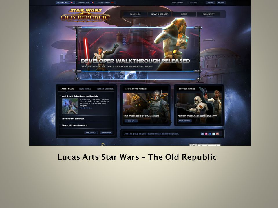 Lucas Arts Star Wars – The Old Republic