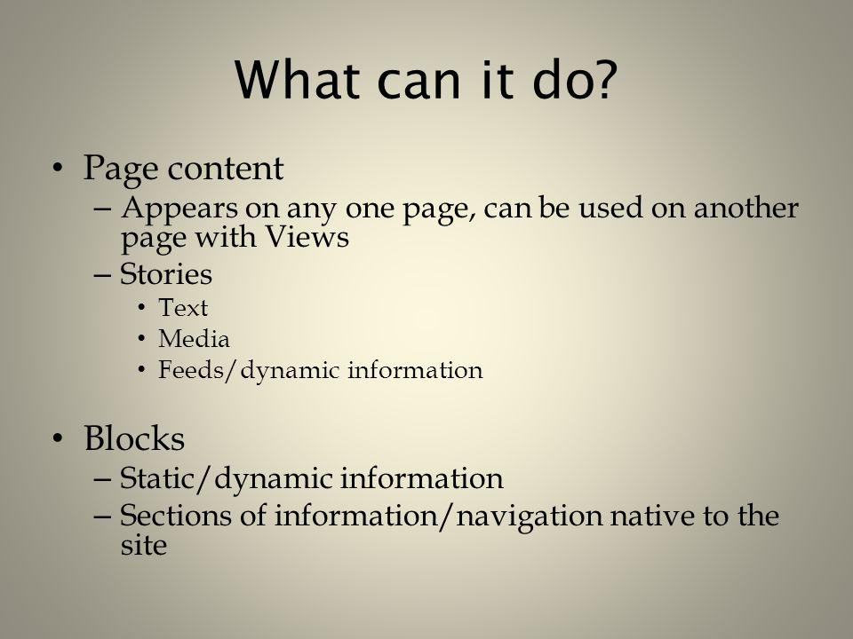 More features Other modules: – SOPAC – MARC – EZProxy – LDAP – Biblio – Bookmarks – Fivestar rating – Google Analytics