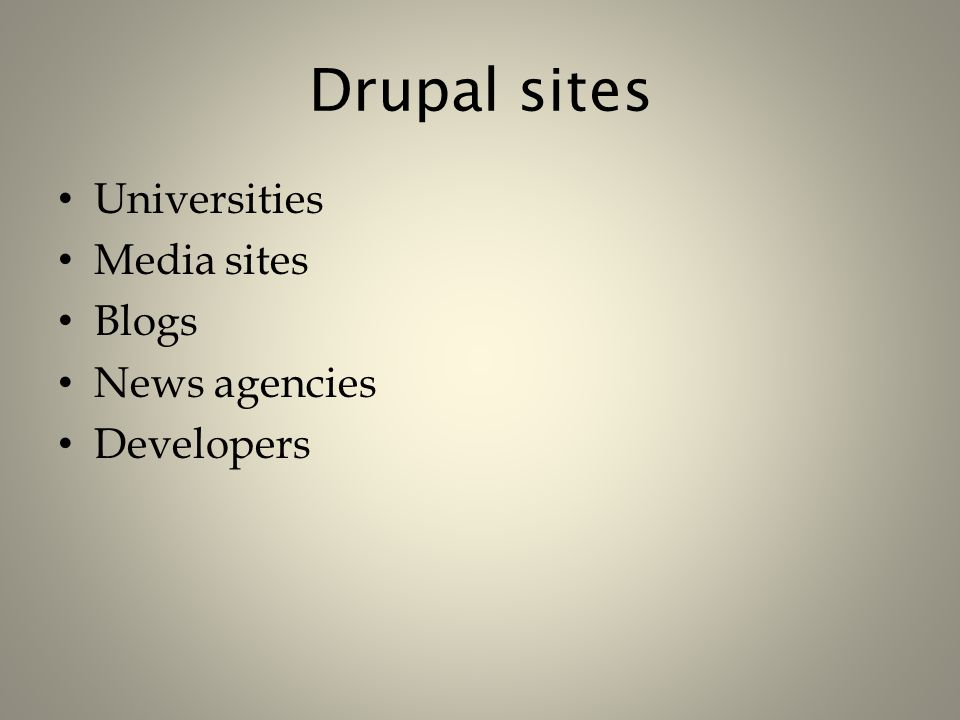 Building Blocks of Drupal Roles – Admins Content editors – Librarians Developers – Coders – Librarians – Users Patrons – Faculty – Students