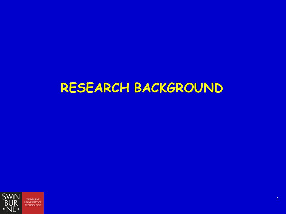 2 RESEARCH BACKGROUND