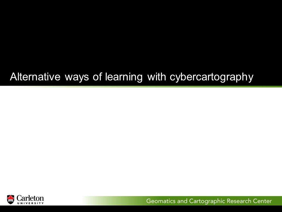 Alternative ways of learning with cybercartography