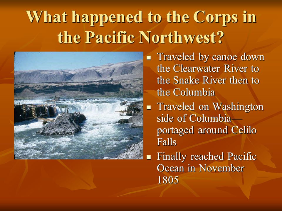 What happened to the Corps in the Pacific Northwest.