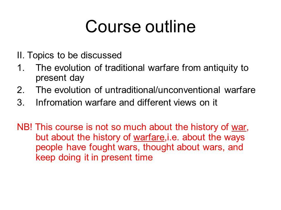 Course outline III.