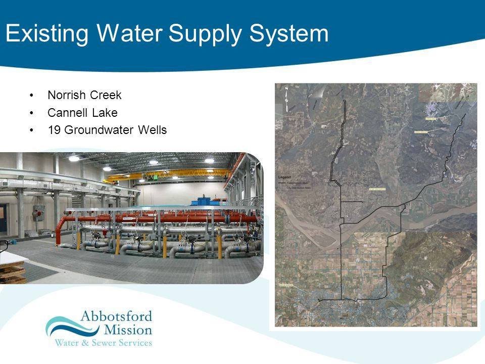 Existing Water Supply System Norrish Creek Cannell Lake 19 Groundwater Wells