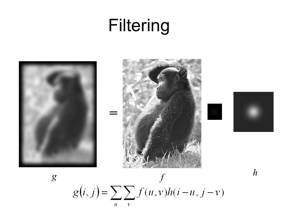 Filtering = g h f