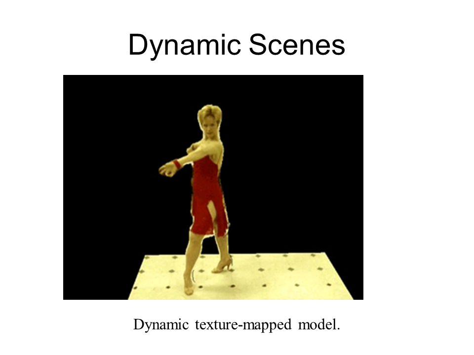 Dynamic Scenes Dynamic texture-mapped model.