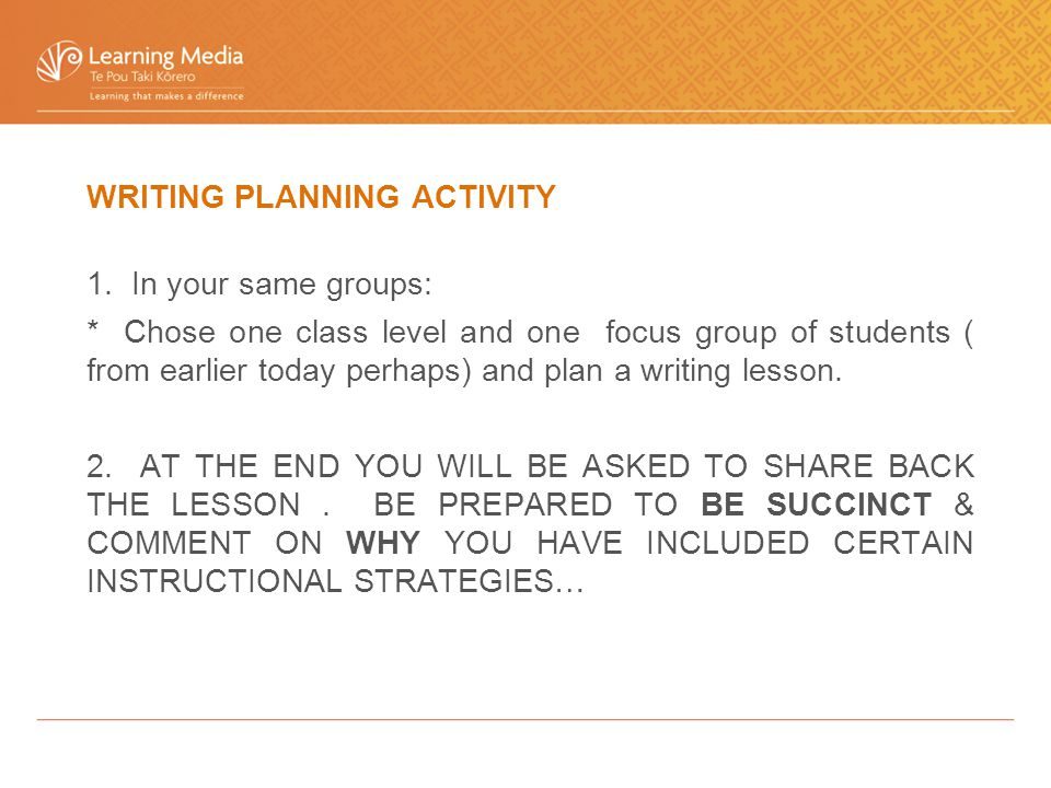 WRITING PLANNING ACTIVITY 1.