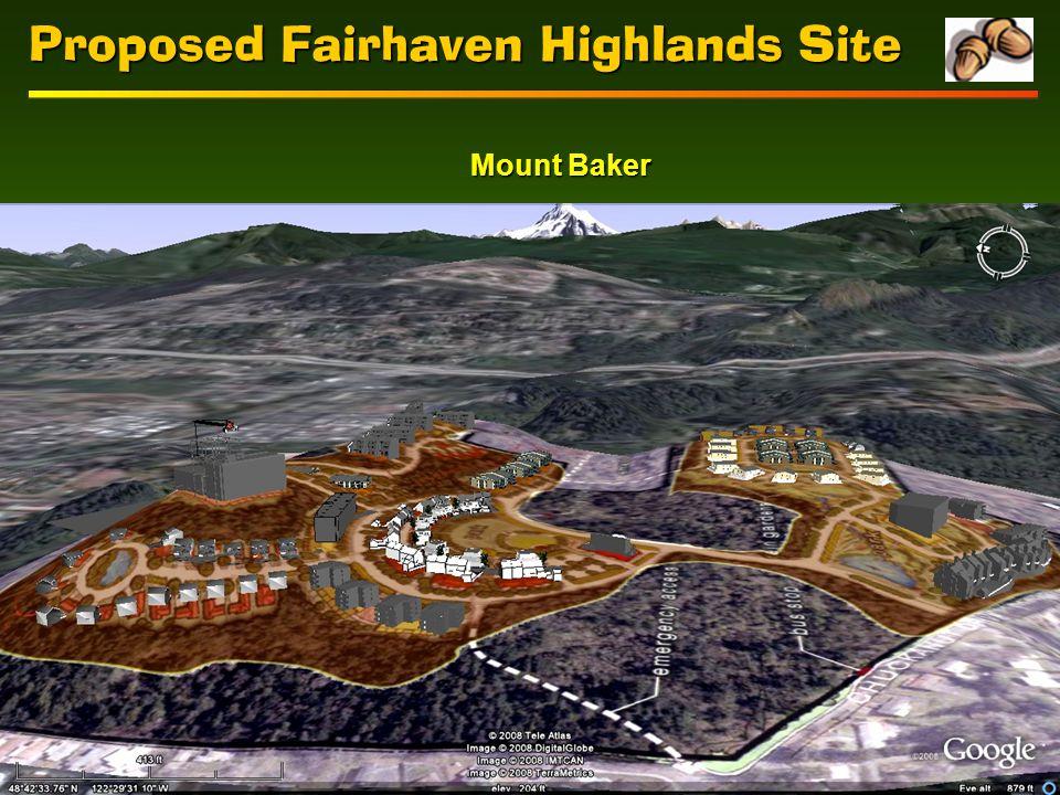 Proposed Fairhaven Highlands Site Mount Baker
