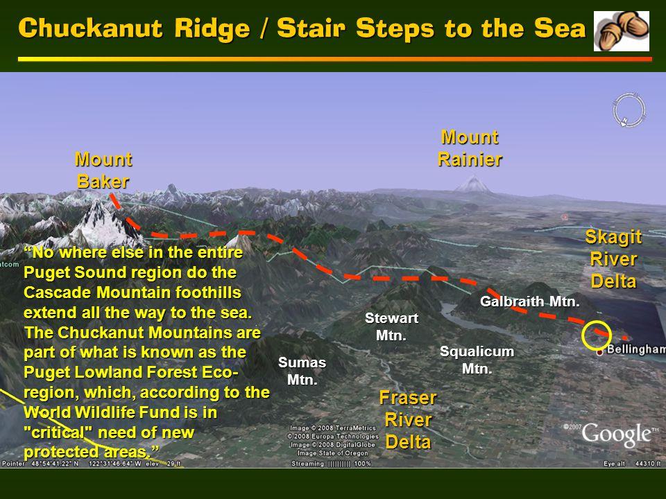 Chuckanut Ridge / Stair Steps to the Sea Mount Baker Mount Rainier Galbraith Mtn.