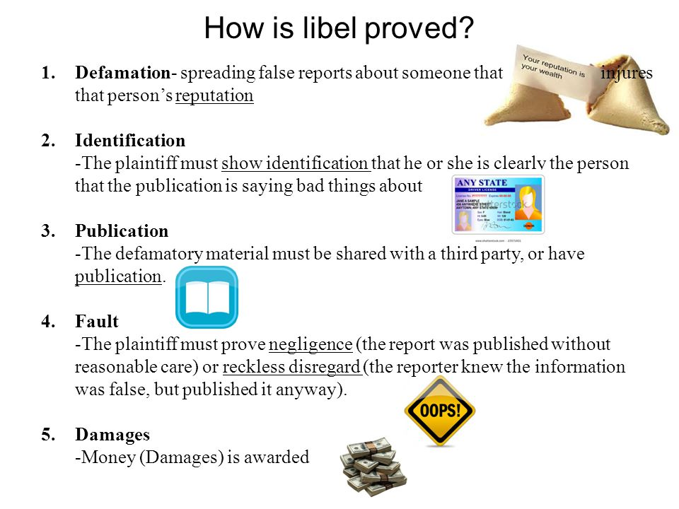 How is libel proved.
