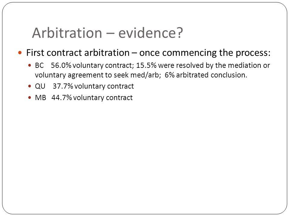 Arbitration – evidence.