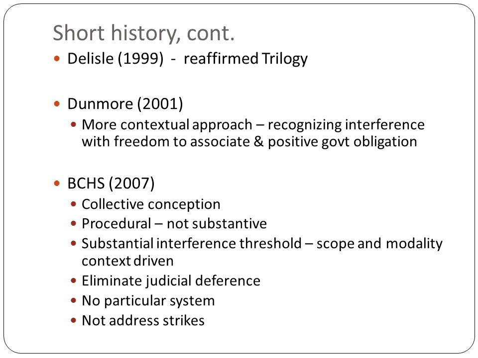 Short history, cont.