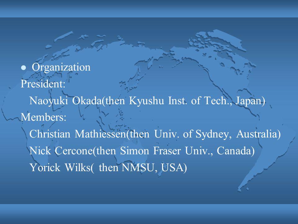 Organization President: Naoyuki Okada(then Kyushu Inst.