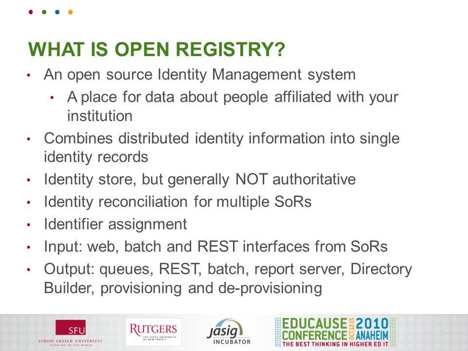 WHAT IS OPEN REGISTRY?