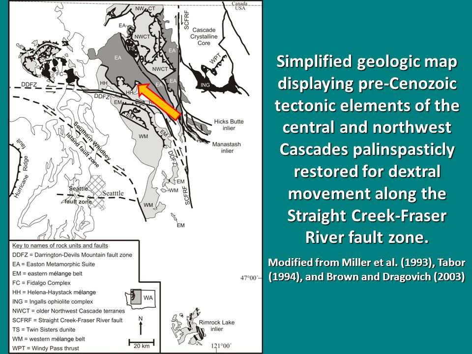 Restoration of northern Cordillera strike- slip faulting at 100 Ma.