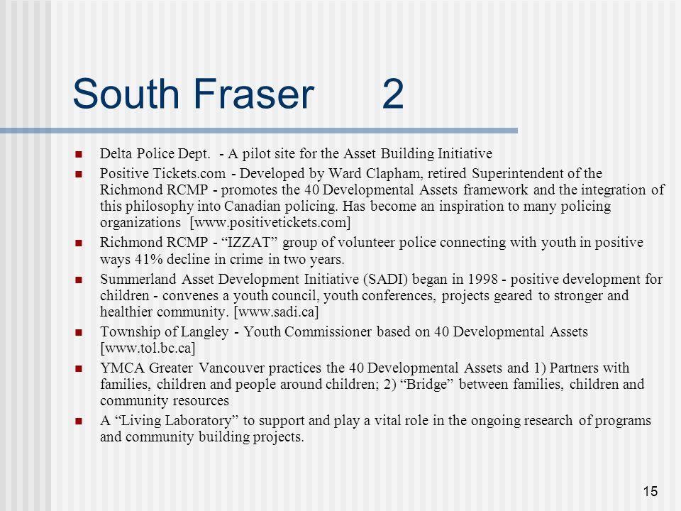 15 South Fraser 2 Delta Police Dept.