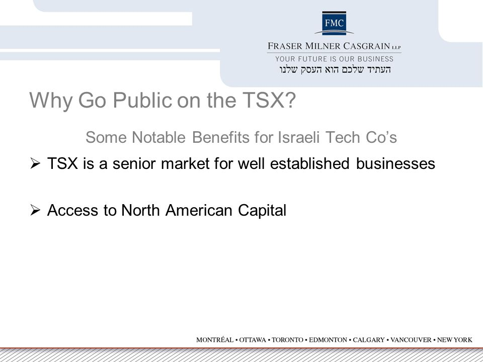 Why Go Public on the TSX.