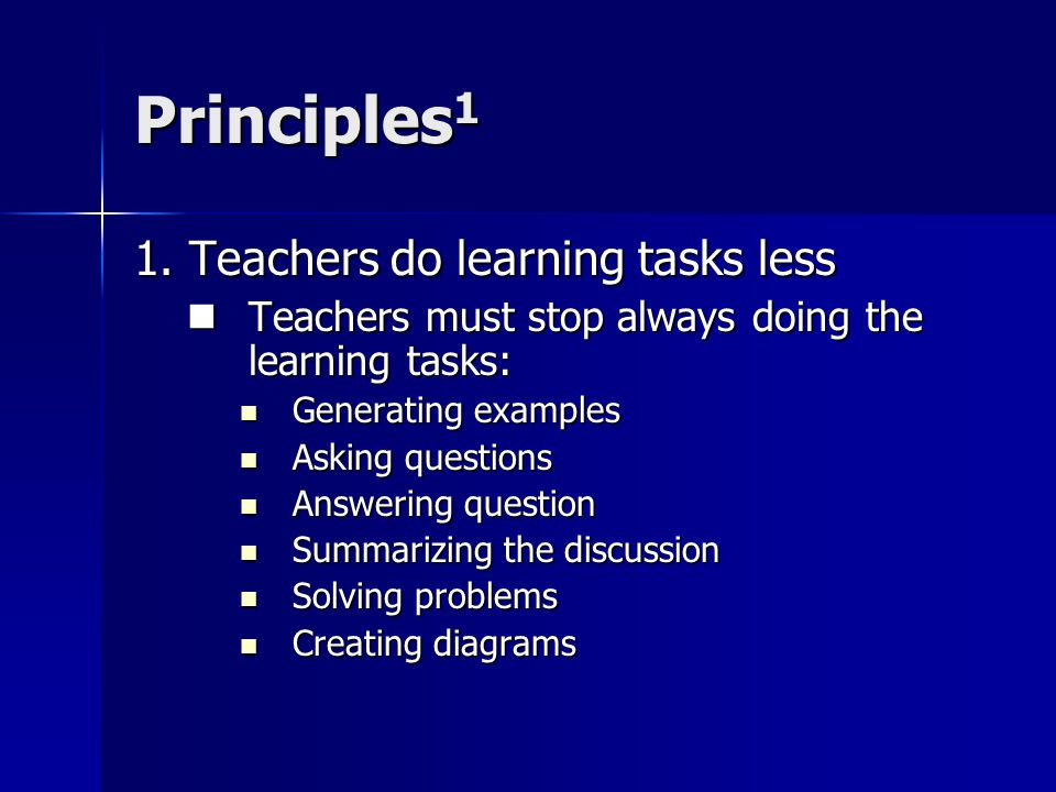 Principles 1 1.