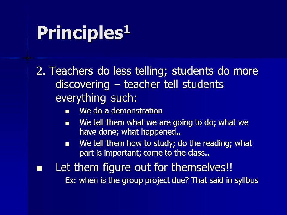 Principles 1 2.