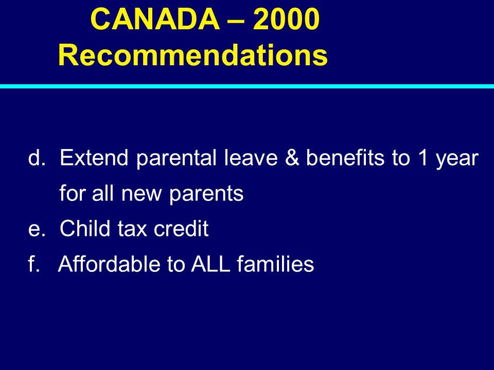 00-135 CANADA – 2000 Recommendations d.