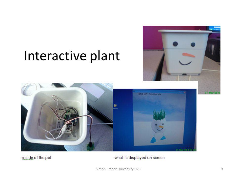 Interactive plant Simon Fraser University SIAT9