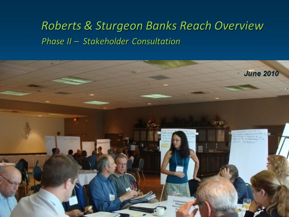 Roberts & Sturgeon Banks Reach Overview Roberts & Sturgeon Banks Reach Overview Phase II – Stakeholder Consultation June 2010